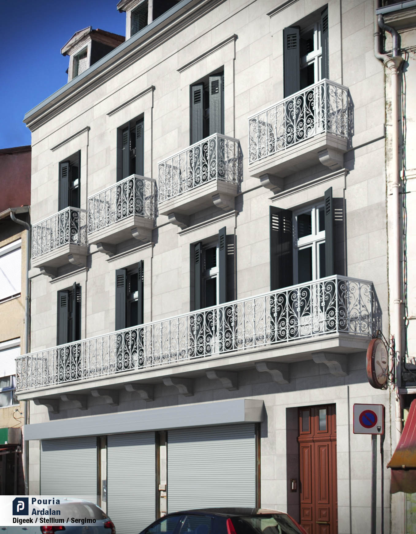 restauration d 39 immeuble en architecture 3d pouria ardalan infographiste 3d toulouse. Black Bedroom Furniture Sets. Home Design Ideas